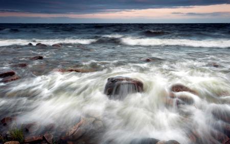 Фотографии море, камни, волны, природа