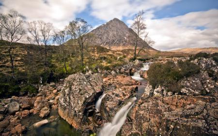 Обои природа, речка, горы, пейзаж