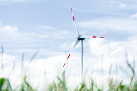 Заставки ветряк, небо, пейзаж