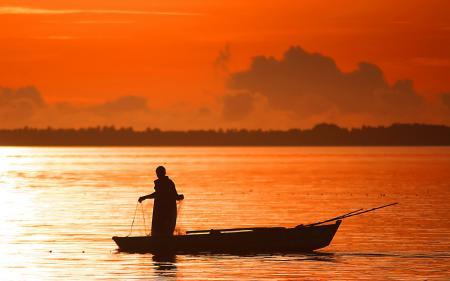 Фото река, ночь, рыбалка, пейзаж