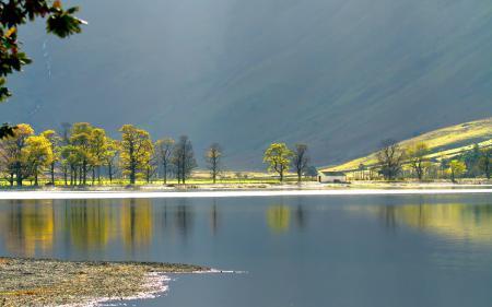 Фото озеро, гора, пейзаж