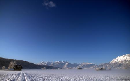 Заставки зима, поле, пейзаж