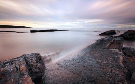 Фото море, закат, скалы, пейзаж