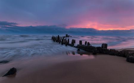 Картинки море, закат, пейзаж