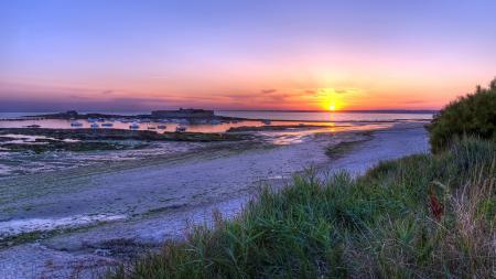 Фото France, Brittany, Fort Bloqué, закат