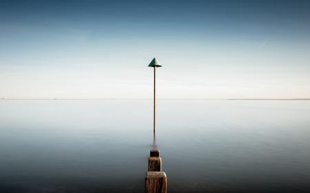 Фотографии озеро, опоры, пейзаж