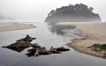 Фото море, туман, пейзаж