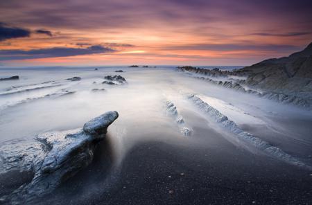 Обои море, небо, камни, берег