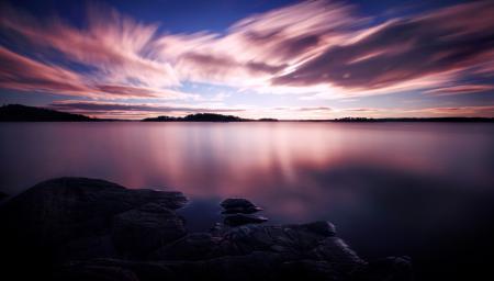 Фото природа, небо, облака, закат
