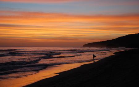 Картинки пейзажи, вечер, побережье, берег