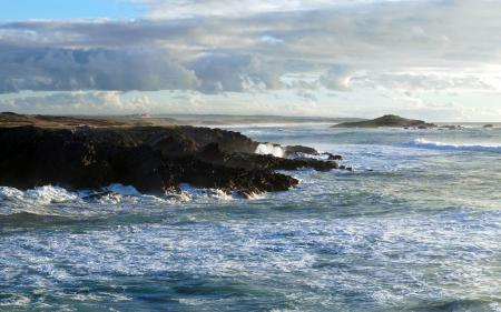 Фото небо, камни, волны, море