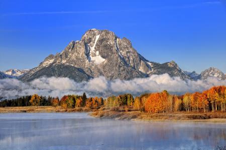 Картинки горы, скала, озеро, небо