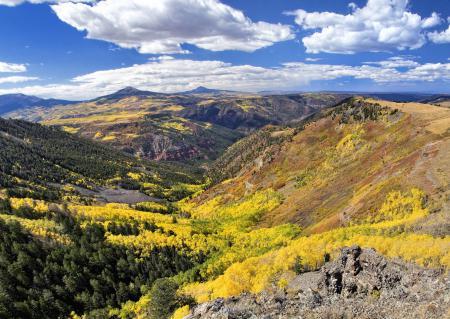 Фото долина, скалы, горы, небо