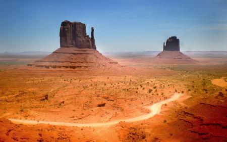 Обои пейзажи, пустыня, дорога, песок
