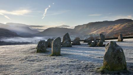 Фото утро, камни, горы
