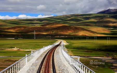 Заставки железная дорога, небо, фон