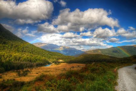 Фото горы, холмы, небо, облака
