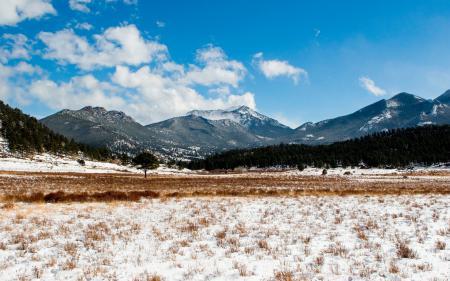Обои горы, снег, склоны, природа