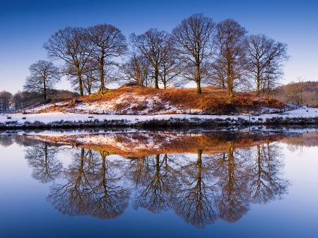 Обои Природа, зима, снег, река