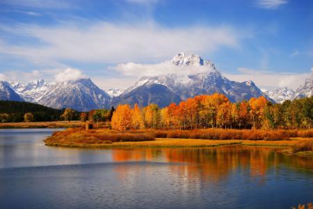 Картинки Горы, озеро, лес, небо