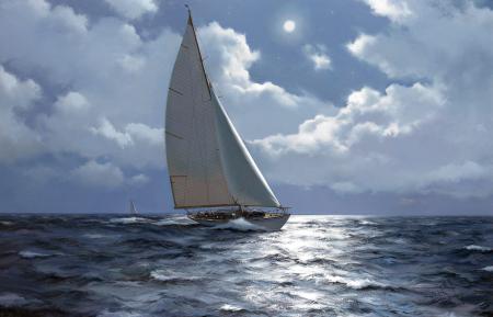 Обои James Brereton, яхта, море