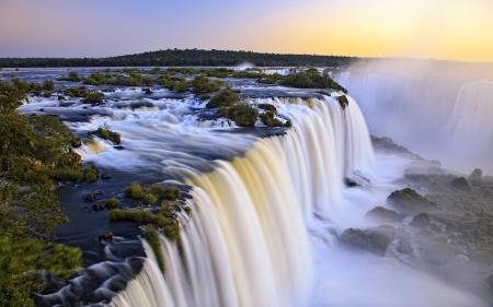 Обои река, водопад, поток
