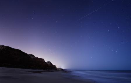 Заставки метеор, звезды, океан, скалы