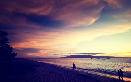 Заставки пейзаж, природа, закат, небо
