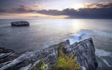 Картинки закат, море, скалы, пейзаж