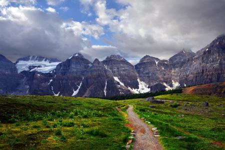 Обои горы, дорога, пейзаж