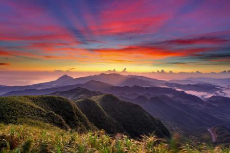 Заставки горы, закат, небо, пейзаж