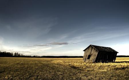 Фото Пейзаж, дом, унылый