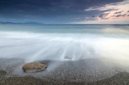 Фотографии море, ночь, камни, пейзаж
