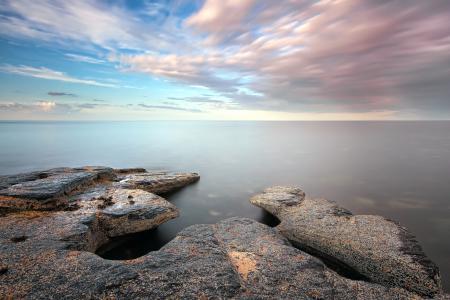 Фотографии море, берег, природа, закат