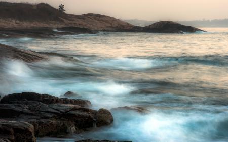 Фотографии море, камни, ночь, пейзаж