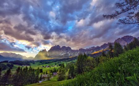 Заставки горы, небо, пейзаж, HDR