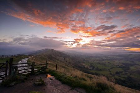 Фото закат, гора, пейзаж