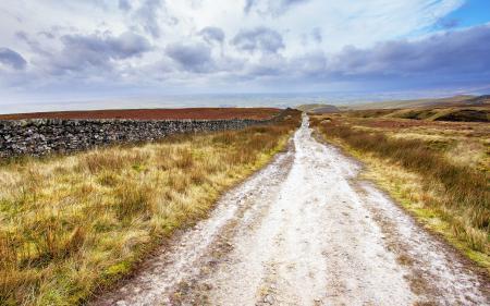 Заставки дорога, поле, забор, пейзаж
