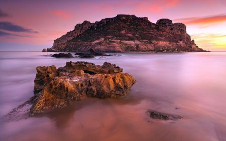 Фотографии закат, остров, пейзаж