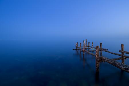 Фотографии озеро, мост, природа, пейзаж