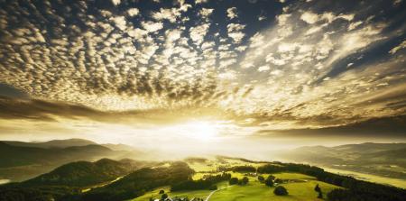 Фотографии лес, горы, холмы, небо