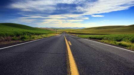 Фотографии дорога, поле, лето, пейзаж