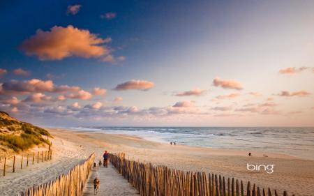 Фото пляж, небо, море, облака
