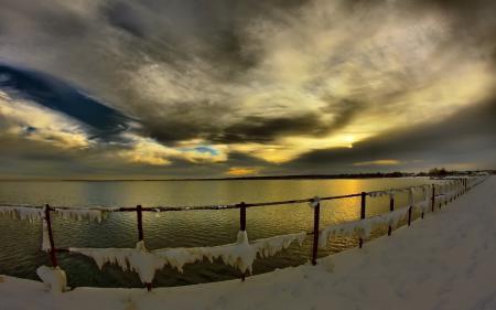 Картинки Зима, море, пейзаж, природа