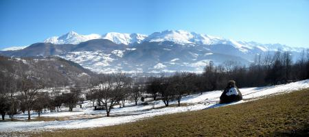 Фото spring, panorama, mountain