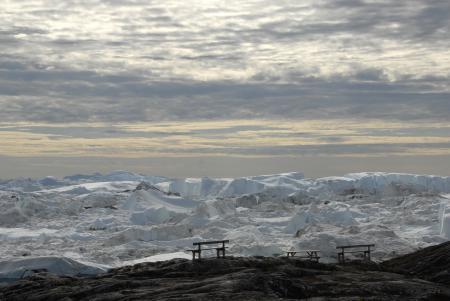 Фото лёд, зима, скамейки, пейзаж