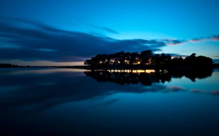 Фото вода, пейзажи, деревья, острова