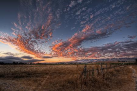 Заставки природа, небо, хмаринки, поле