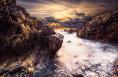 Заставки море, скалы, камни, небо