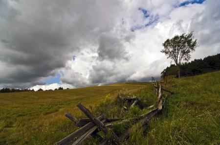 Фото забор, поле, пейзаж, природа